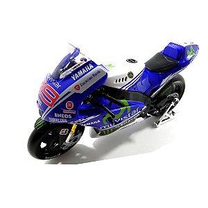 Moto Yamaha Factory Racing Team 99 Jorge Lorenzo Moto Gp 1/10 Maisto