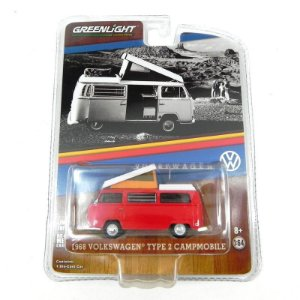 Volkswagen Kombi Type 2 Campmobile 1968 1/64 Greenlight