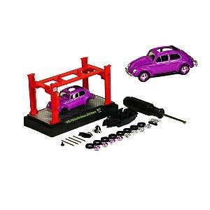Volkswagen Fusca Beetle D Usa Model + Elevador 1/64 M2 Machines