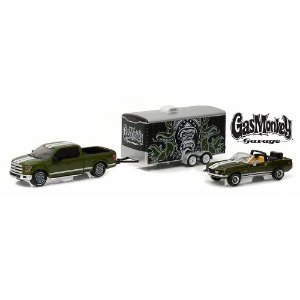 Shelby GT500KR e Ford F150 GasMonkey Garage 1/64 Greenlight