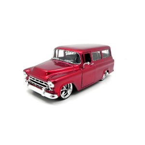 Chevrolet Suburban 1957 Vermelho 1/24 Jada Toys Big Time Kustoms