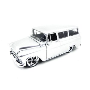 Chevrolet Suburban 1957 Cinza 1/24 Jada Toys Big Time Kustoms