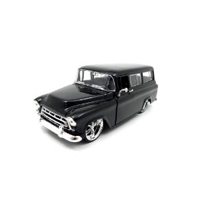 Chevrolet Suburban 1957 Preto 1/24 Jada Toys Big Time Kustoms