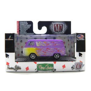 Ford Econoline Van Custom 1965 1/64 M2 Machines WC07 Roxo