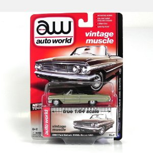 Ford Galaxie 500 XL Convertible 1964 1/64 Auto World Verde
