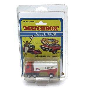 Freeway Gas Tanker Burmah Superfast N63 1/64 Matchbox