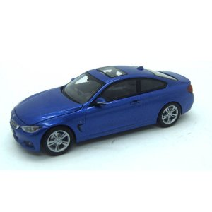 BMW 4 Series 435I Coupe F36 2014 Azul 1/43 Paragon