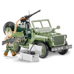 Jeep Willys MB Blocos de Montar 90 Peças Cobi