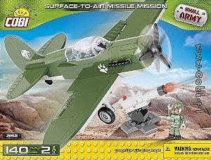 Avião Militar com Míssil Blocos de Montar 140 Peças Cobi