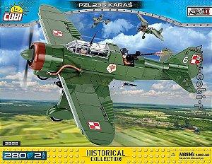 Avião PZL P-23B Karaś Blocos de Montar 280 Peças Cobi