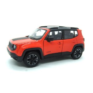 Jeep Renegade Trailhawk Laranja 1/24 Welly
