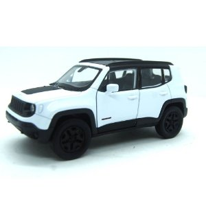 Jeep Renegade Trailhawk Branco Com Fricção 1/32 Welly