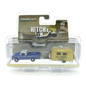 Dodge D-100 Trailer Airstream 16 Bambi 1/64 Greenlight