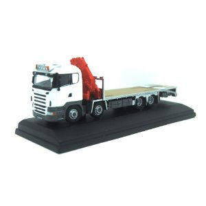 Scania Crane Lorry White 1/76 Oxford