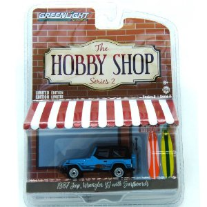 Jeep Wrangler 1987 The Hobby Shop Series 2 1/64 Greenlight