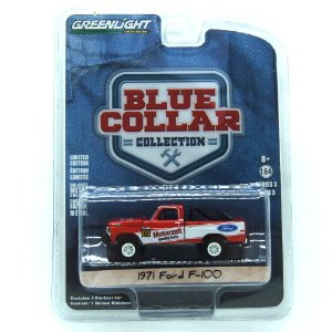 Ford F-100 1971 Blue Collar 1/64 Greenlight