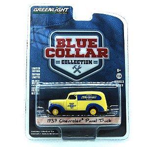 Chevrolet Panel Truck 1939 Blue Collar 1/64 Greenlight