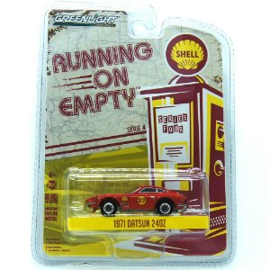 Datsun 24OZ 1971 Running On Empty Shell 1/64 Greenlight