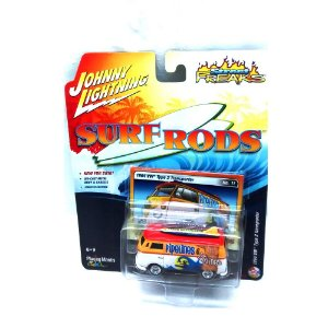 VW Type 2 Transporter Surf Roads A 1/64 Johnny Lightning