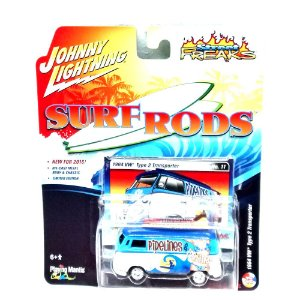 VW Type 2 Transporter Surf Roads D 1/64 Johnny Lightning