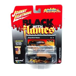 George Barris Phaeton Black With Flames D 1/64 Johnny Lightning