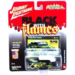 George Barris Phaeton Black With Flames C 1/64 Johnny Lightning