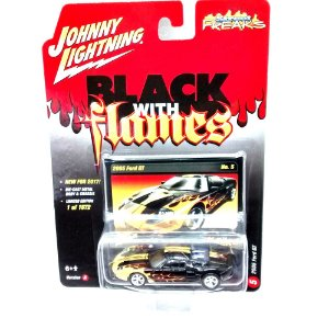 Ford GT 2005 Black With Flames A 1/64 Johnny Lightning