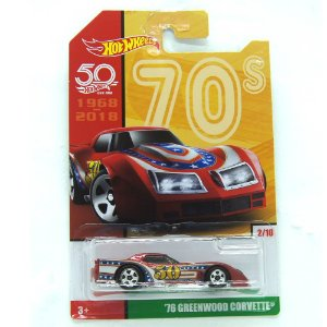 Chevrolet Greenwood Corvette 1976 1/64 Hot Wheels 50 Anos