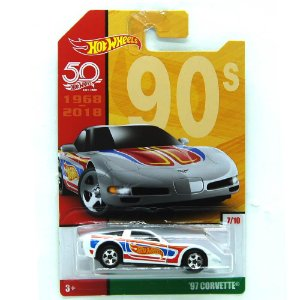 Chevrolet Corvette 1997 1/64 Hot Wheels 50 Anos