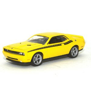 Protótipo Dodge Challenger 2010 Amarelo 1/64 Greenlight