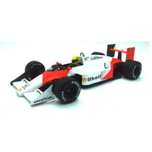 Mclaren Honda TAG MP4/3 Ayrton Senna Carro de Teste 1987 1/18 Minichamps