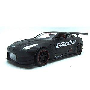 Nissan GT-R (R35) Ben Sopra 2009 Preto Fosco JDM Tuners 1/24 Jada Toys