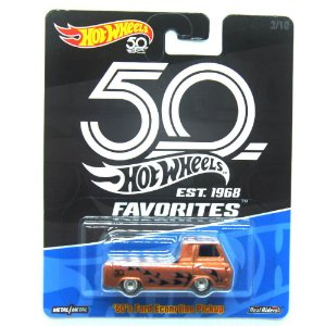60's Ford Econoline Pickup 1/64 Favoritos 50 anos Hot Wheels
