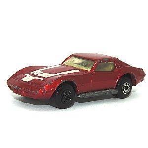 Chevrolet Corvette vermelho Nº62 1/64 Matchbox Anos 70