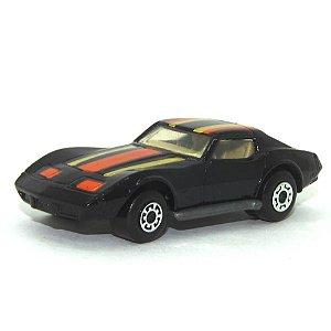 Chevrolet Corvette preto Nº62 1/64 Matchbox Anos 70
