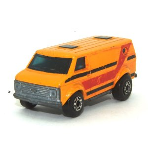 Chevrolet Van L. Vermelha Nº68 1/64 Matchbox Anos 70