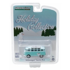 Volkswagen Kombi Samba Bus Holiday Collection 1/64 Greenlight