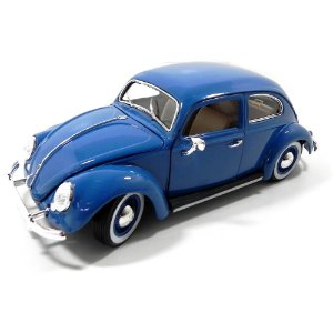 Volkswagen Fusca 1955 Kafer Azul 1/18 Bburago