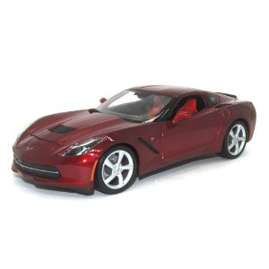 Chevrolet Corvette C7 Coupe Stingray 2014 Vermelho 1/18 Maisto Especial Edition