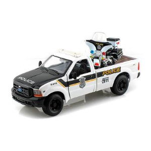 Ford F-350 Super Duty Pick Up 1999 1/27 Harley Davidson FLHTPI Electra Glide Police 2004 1/24 Maisto HD Custom