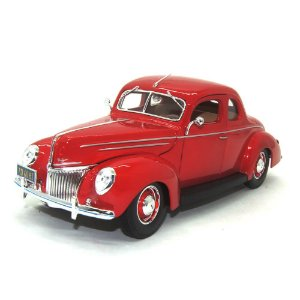 Ford Deluxe 1939 Vermelho 1/18 Maisto Special Edition