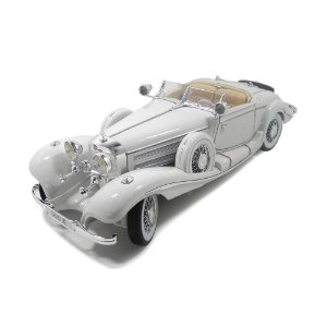Mercedes-Benz 500 K Typ Specialroadster 1936 Branco 1/18 Maisto Premiere Edition