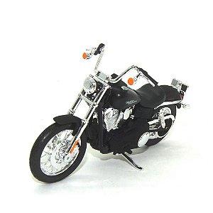 Moto Harley Davidson Dyna Street Bob 2006 Preta 1/18 Maisto HD Custom Series 34