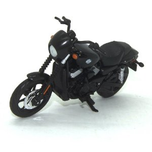 Moto Harley Davidson Street 750 2015 Preta 1/18 Maisto HD Custom Series 34