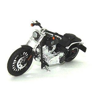 Moto Harley Davidson Breakout 2016 Preta 1/18 Maisto HD Custom Series 35