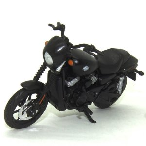 Moto Harley Davidson Street 750 2015 Preta 1/18 Maisto HD Custom Series 35