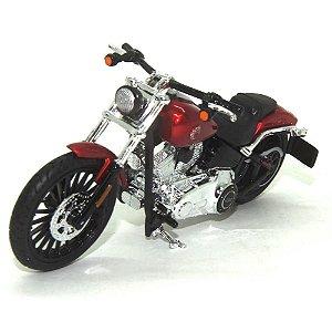 Moto Harley Davidson Breakout 2016 Vinho 1/18 Maisto HD Custom Series 35