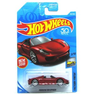 Porsche 918 Spyder 1/64 Hot Wheels Factory Fresh