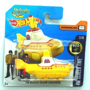 Yellow Submarine The Beatles HW Screen Time 1/64 Hot Wheels