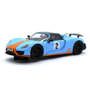 Slot Car Porsche 918 Spyder Gulf Racing 2 1/32 Carrera Evolution